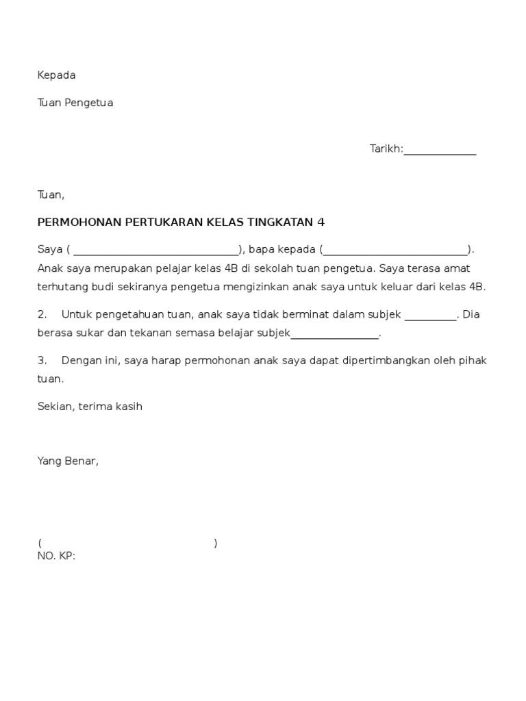 Contoh Surat Permohonan Pertukaran Sekolah Anak Viral Blog Q