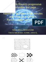 Raven's Progressive Matrices Test Online, Free Download Powerpoint Presentation With Answers