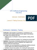 Testing Foundations