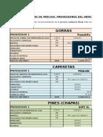 Tarea 8 Informe de Los Proveedores Del Merchandising de Ibaiondo 2