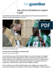 C of E archbishops call on Christians to repent for Reformation split   World news   The Guardian