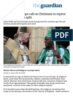 C of E archbishops call on Christians to repent for Reformation split | World news | The Guardian