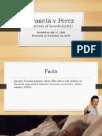Araneta v Perez