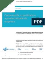 Como medir a qualidade e a produtividade da empresa _ Sebrae.pdf