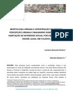 Morfologia Urbana e Apropriação Do Espaço