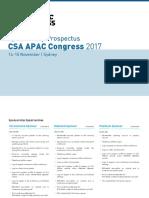 CSA APAC Congress 2017 Sponsorship Prospectus