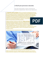 Declaración Del ISLR Para Personas Naturales