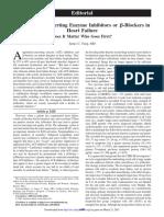 ACE Inhibitor or Beta Blocker in Heart Failure