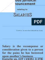 57_juridical Pronouncement (Case Law) Relating to Salaries