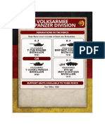 Team Yankee - Unit Card - Volksarmee - 9.Panzerdivision