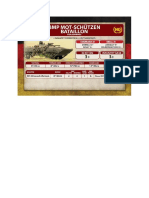 Team Yankee - Unit Card - Volksarmee - BMP Mot-Schützenbatallion HQ