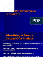 Role of Advertising in Service Final