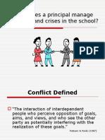 Conflict Management in School