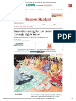 Suryoday Rasing Rs 100 Crore Through Rights Issue _ Business Standard News