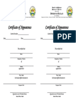 Deped Bataan Certificate of Appearance