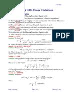 3063 Exam1 Solutions Sp07