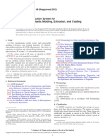 D3275-08(2013) Standard Classification System for E-CTFE-Fluoroplastic Molding, Extrusion, And Coating Materials
