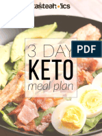 3 Day Keto Meal Plan