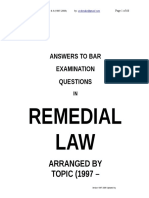 BAR EXAMS Question and Answer 1996 - 2006