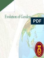 Evolution of Geodesy
