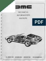 Delorean DMC 12 Manual Tecnico