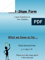 point slope powerpoint