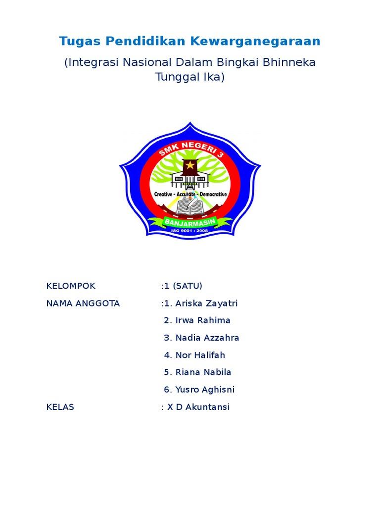 Integrasi Nasional Dalam Bingkai Bhinneka Tunggal Ika