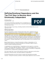 Emotional Dependency and the Top Five Ways to Become More Emotionally Independent