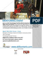 First Nations, Inuit and Metis Mentoring Event March 15 2017 (10am - 2pm)