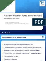 3 Présentation Roadshow Authentification Forte Avec Les USG