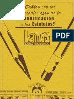Proyecto Uchile - Cuáles Son Los Ejes de La Modificación a Los Estatutos