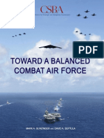 Toward Balanced Combat Air Force