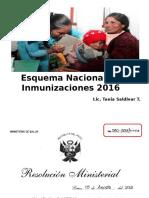 Esquema de Vacunación Nacional 2016