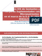 Registro HIS Gestantes Micronutritentes 2016