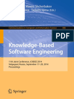 Alla Kravets, Maxim Shcherbakov, Marina Kultsova, Tadashi Iijima Eds. Knowledge-Based Software Engineering 11th Joint Conference, JCKBSE 2014, Volgograd, Russia, September 17-20, 2014. Proceedings