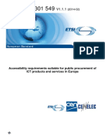 ETSI en 301 549 Accessibility Requirements Suitable for Public Procurement of ICT Products and Services in Europe