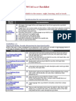 WebAIM WCAG Checklist
