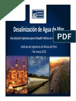 Desalinizacion de Agua de Mar