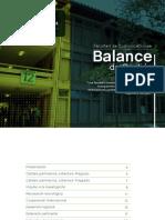 Balance 2013 2016 Facultad de Comunicaciones