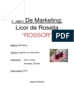 Licor de Rosella 2012 MARKETING