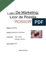 Licor de Rosella 2012 MARKETING