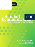 Handoff Communication-Safe Transitions in Patient Care