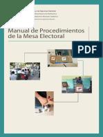 Manual Funcionamiento Mesa Electoral genérico