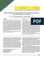 Palacios Parental Attitudes and Adoption Communication