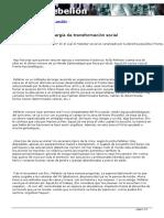 Amador Fernández - El Malestar Como Energía de Transformación Social