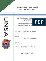 GRUPO GLORIA SA Gestion Empresarial