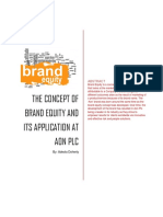The Concept of Brand Equity and its application at Aon Plc
