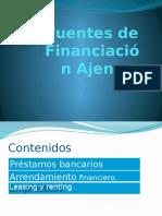 5. Fuentes de financiación ajenas