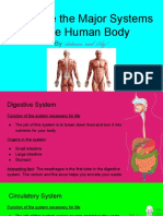 lily autumn human body system project