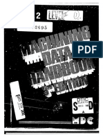 Machining Data Handbook